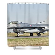 An F-16c Block 50 Of The Turkish Air Shower Curtain