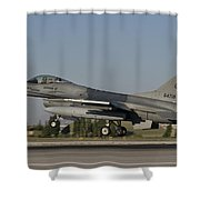 An  F-16c Of The Pakistan Air Force Shower Curtain