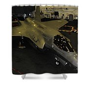 An F-35b Lightning II Is Secured Shower Curtain