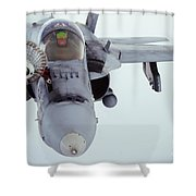 An Fa-18 Super Hornet Receives Fuel Shower Curtain
