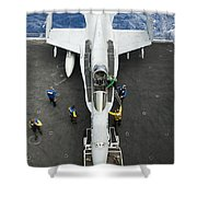 An Fa-18c Hornet Aircraft Shower Curtain