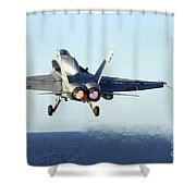 An Fa-18c Hornet Launches Shower Curtain