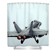 An Fa-18c Hornet Taking Off Shower Curtain