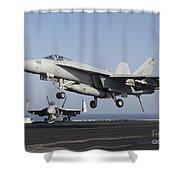 An Fa-18e Super Hornet Prepares Shower Curtain