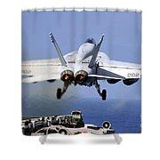 An Fa-18e Super Hornet Takes Shower Curtain