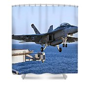 An Fa-18f Super Hornet Takes Shower Curtain