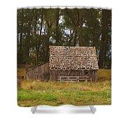 An Idaho Barn Shower Curtain