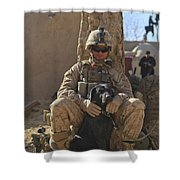 An Ied Detection Dog Keeps His Dog Shower Curtain