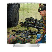 An Infantry Unit Of The Belgian Army Shower Curtain