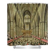 An Interior View Of Westminster Abbey On The Commemoration Of Handel's Centenary Shower Curtain