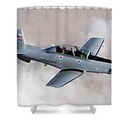 An Iraqi Air Force T-6 Texan Trainer Shower Curtain