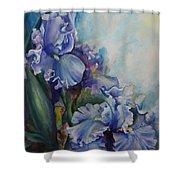 An Iris For My Love Shower Curtain