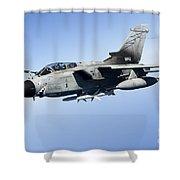 An Italian Air Force Tornado Ids Shower Curtain