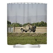 An M-atv Driving Towards Aliabad Shower Curtain