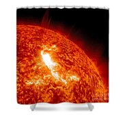 An M8.7 Class Flare Erupts On The Suns Shower Curtain