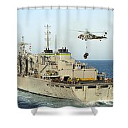 An Mh-60s Knighthawk Lifts Cargo Shower Curtain