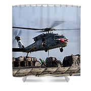 An Mh-60s Sea Hawk Lifts Cargo Shower Curtain
