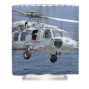 An Mh-60s Sea Hawk Search And Rescue Shower Curtain