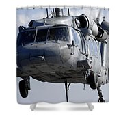 An Mh-60s Seahawk Delivers A Pallet Shower Curtain