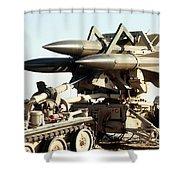 An Mim-23b Hawk Surface-to-air Missile Shower Curtain