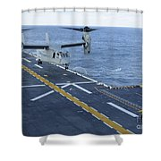 An Mv-22 Osprey Lands Aboard Shower Curtain