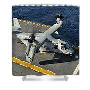 An Mv-22 Osprey Lands Aboard Uss Shower Curtain