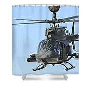 An Oh-58 Kiowa Takes Shower Curtain
