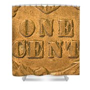 An Old United States Indian Head Penny Shower Curtain