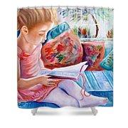 An Open Book Shower Curtain