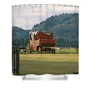 An Orginal Carriage And Other Equipment Shower Curtain