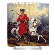 An Ottoman On Horseback Shower Curtain