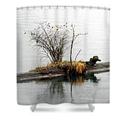 An Outpost Shower Curtain