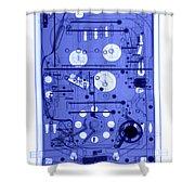 An X-ray Of A Pinball Machine Shower Curtain