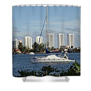 Anchored On Maule Lake Shower Curtain