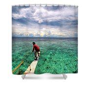 Anchor's Away Shower Curtain