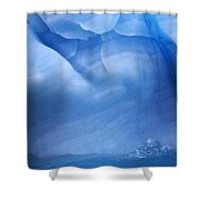 Ancient Blue Iceberg, Detail, Antarctica Shower Curtain