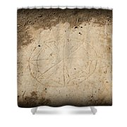 Ancient Christian Symbol Shower Curtain