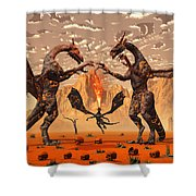 Ancient Lava Dragons Born Of Fire Shower Curtain