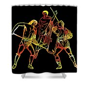 Ancient Roman Gladiators Shower Curtain