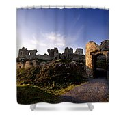 Ancient Ruins On Top Of The Rock Shower Curtain