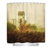 Ancient Transformer Tower Shower Curtain