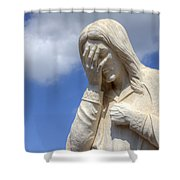 And Jesus Wept IIi Shower Curtain