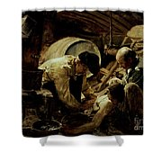 And They Still Say Fish Is Expensive Shower Curtain by Joaquin Sorolla y Bastida