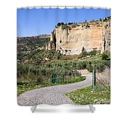 Andalusia Countryside Shower Curtain
