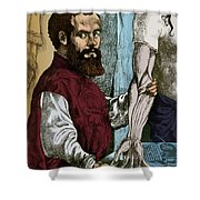 Andreas Vesalius, Flemish Anatomist Shower Curtain