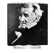 Andrew Jackson, 7th American President Shower Curtain by Omikron