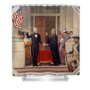 Andrew Jackson At The First Capitol Inauguration - C 1829 Shower Curtain
