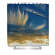 Angel Clouds Shower Curtain