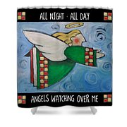 Angel Flight Poster Shower Curtain