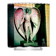 Angel In The City Of Angels Shower Curtain